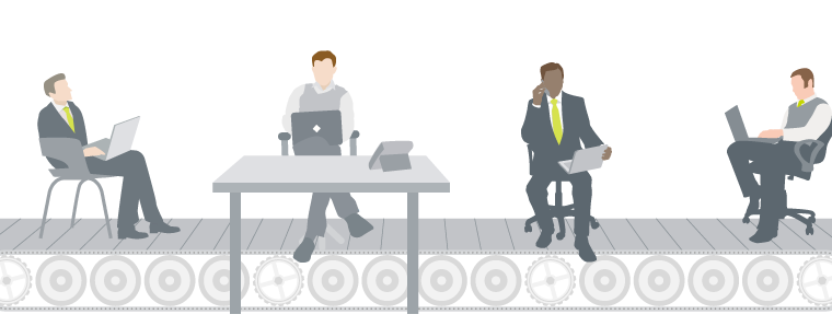 Hot-desking is becoming increasingly common
